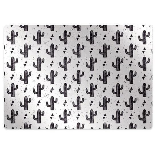 Kobercomat Ochranná podložka pod stoličku black kaktusy