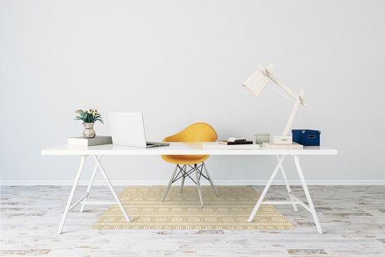 kobercomat.sk Podložka pod kancelársku stoličku žltá tvar