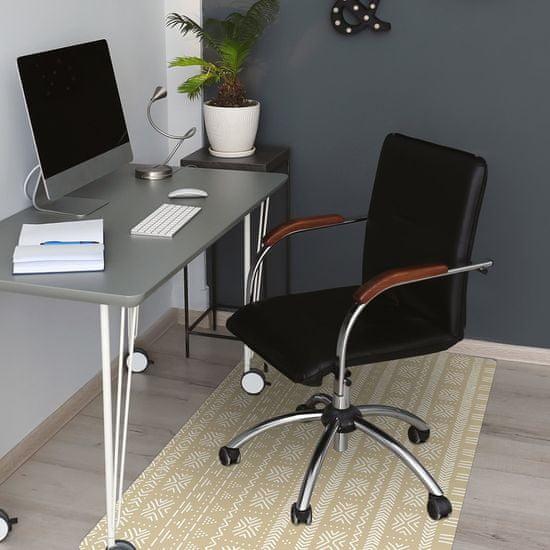 Kobercomat Podložka pod kancelársku stoličku žltá tvar