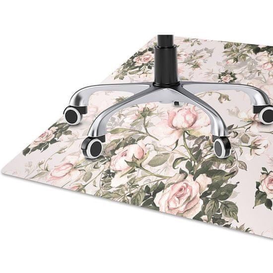 Kobercomat Podložka pod kolieskovú stoličku farebné kvety