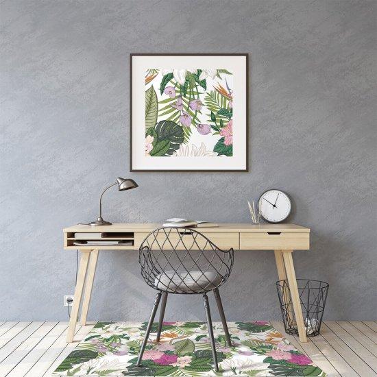 kobercomat.sk Podložka pod kancelársku stoličku exotických kvetín