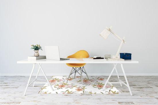 kobercomat.sk Podložka pod kolieskovú stoličku jarné kvety