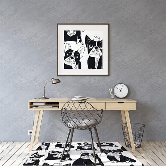 Kobercomat Ochranná podložka pod stoličku veselé psy