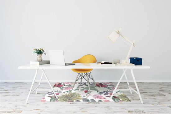 kobercomat.sk Podložka pod kolieskovú stoličku farebné kvety