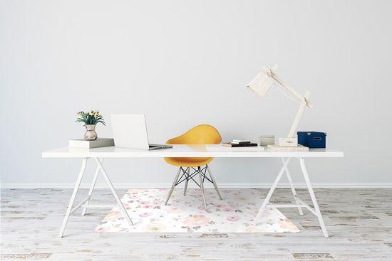 kobercomat.sk Podložka pod kancelársku stoličku akvarel kvety