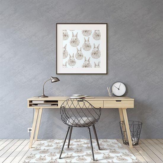 Kobercomat Ochranná podložka pod stoličku králiky nakreslil