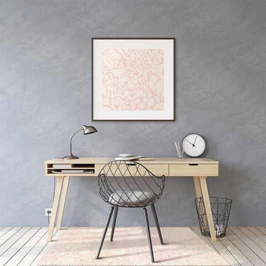 Kobercomat Ochranná podložka pod stoličku ružové pivonky