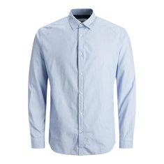 Jack&Jones JJEPLAIN POPLIN Slim Fit moška majica 12173241 kašmir blue (Velikost S)
