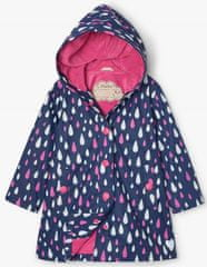 Hatley dievčenské nepremokavá bunda do dažďa Rain Drops Colour Changing S21DDK817 92 tmavomodrá