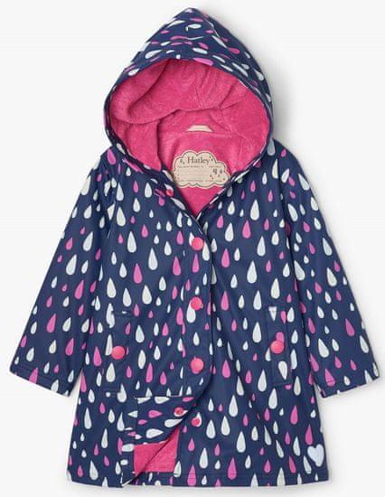 Hatley dievčenská nepremokavá bunda do dažďa Rain Drops Colour Changing S21DDK817