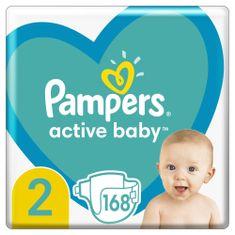 Pampers 2-es méretű Active Baby pelenka, 168 db, fehér