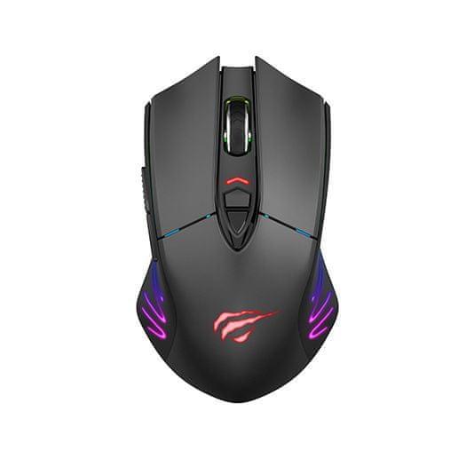 Havit MS1021W bezdrôtová herní myš, černá