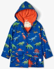 Hatley Friendly Dinos S21DIK1336 vodonepropusna jakna za dječake, 92, tamno plava