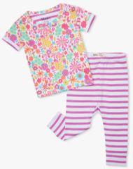 Hatley dívčí pyžamo z organické bavlny Mini Flowers S21DMI1255 58-69 růžová