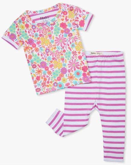 Hatley dívčí pyžamo z organické bavlny Mini Flowers S21DMI1255