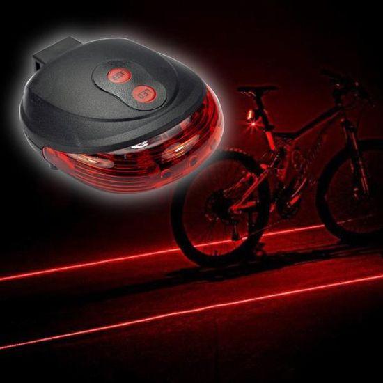 LED svjetlo za bicikl, zadnje, 5 x LED + 2 x laser