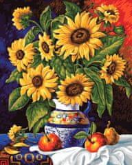 Kouzelný Art Malování podle čísel Slunečnice a jablka