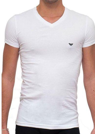 Emporio Armani Pánské tričko 111512 CC717 bílá