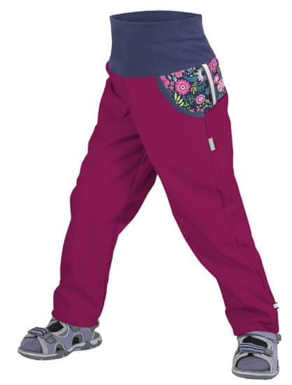 Unuo Rože dekliške softshell hlače, nepodložene