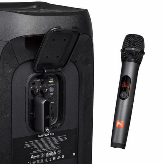 JBL brezžična mikrofona z brezžičnim sprejemnikom (6,35 mm priključek)