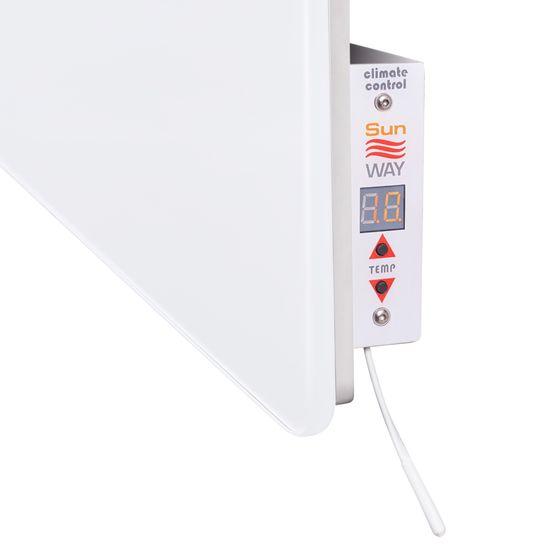 INFRADŮM Skleněný elektrický sušák na ručníky SWGT-RA 600 ULTRA BÍLÁ
