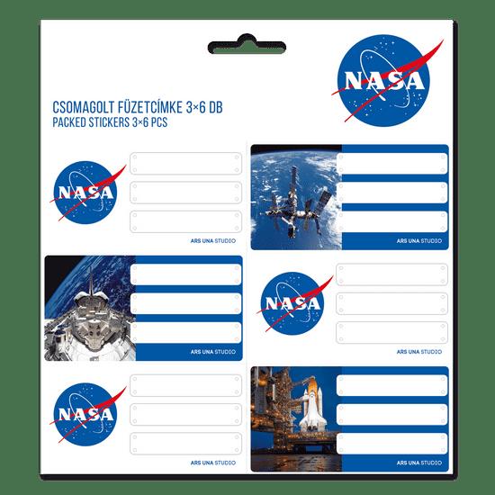 Ars Una Jmenovky na sešity NASA 18ks