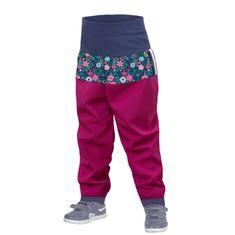 Unuo Kisgyermek softshell nadrág bélés nélkül Virág, 74/80, rózsaszín
