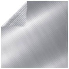 shumee Pokrivalo za bazen srebrno 549x274 cm PE