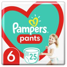 Pampers Plienkové nohavičky Pants Veľkosť 6, 25 ks, 15kg+ biela 6