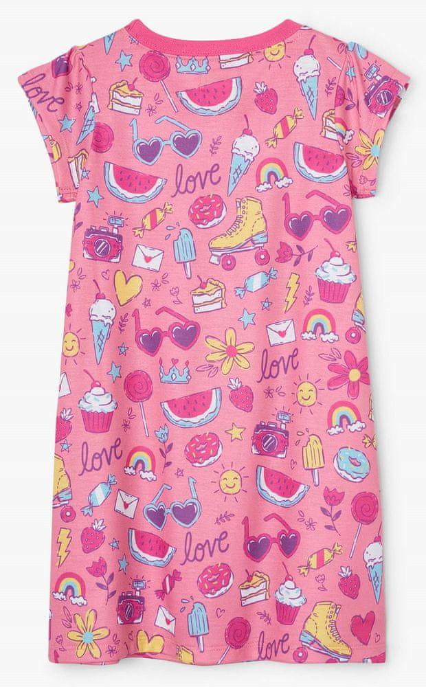 Hatley dívčí noční košile Lovely Doodles S21DNK1192 92 růžová