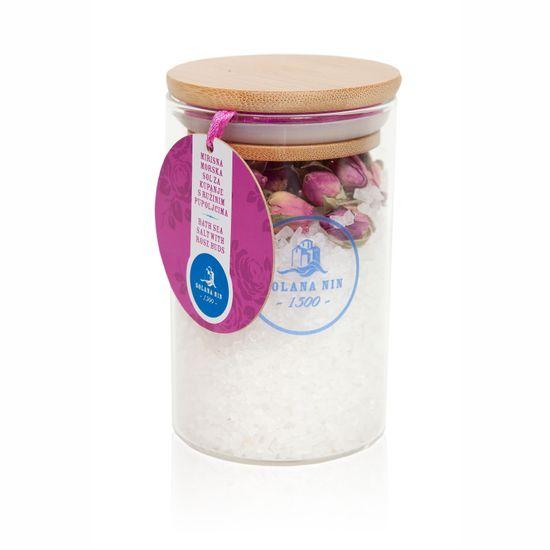 Solana Nin Koupelová mořská sůl s květy růže, 230 g
