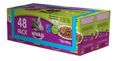 Whiskas kapsičky mixovaný výběr v želé pro dospělé kočky 48 x 100g
