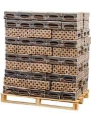 BIOLES HORIZONT PALETA 96 KOM lesnih briketov z luknjo PVC 10kg