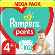 Pampers pieluchomajtki Pants rozmiar 4+, 102 szt.