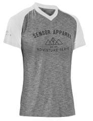 Sensor Cyklo Charger dámský dres volný kr. rukáv šedá/bílá -S