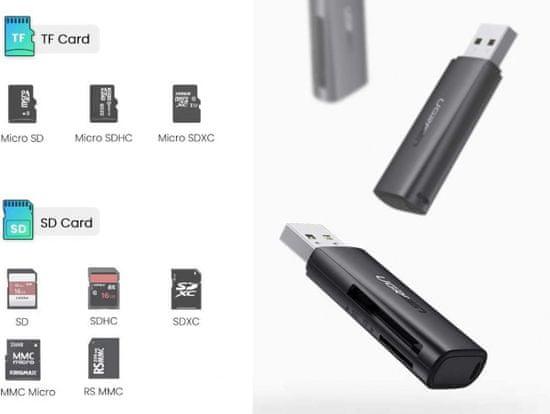 Ugreen USB 3.0 čitalnik kartic, SD, microSD