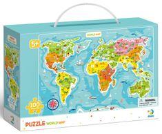 Dodo Toys sestavljanka Zemljevid sveta, 100 delov