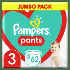 Pampers Pants hlačne plenice, Velikost 3, 6–11 kg, 62 kosov