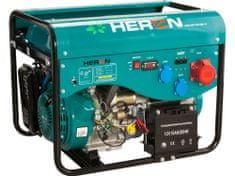 Heron elektrocentrála benzínová a plynová (LGP/NG) 13HP/5,5kW (400V) 2x2kW (230V), elektrický start