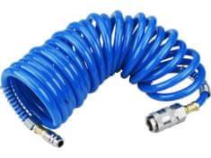 Extol Premium hadice vzduchová spirálová PU s mosaznými rychlospojkami