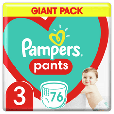 Pampers Pants hlačne plenice, Velikost 3, 6–11 kg, 76 kosov