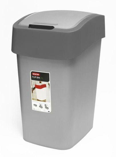 CURVER Koš za smeće Pacific Flip bin 25 L, sivi