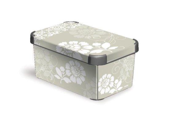 Curver Romance škatla za shranjevanje, S, siva