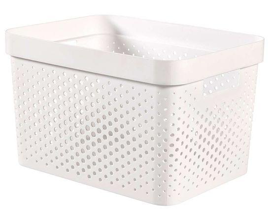 CURVER pudełko INFINITY 17 l recyklingowane tworzywo sztuczne białe