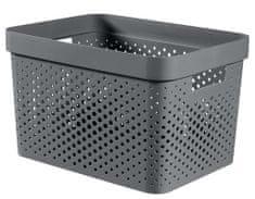 Curver Infinity škatla za shranjevanje, reciklirana plastika, 17 l, temno siva
