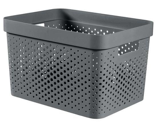 CURVER pudełko INFINITY 17 l recyklingowane tworzywo sztuczne ciemnoszare