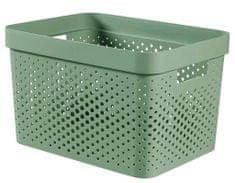 Curver Infinity škatla za shranjevanje, reciklirana plastika, 17 l, zelena