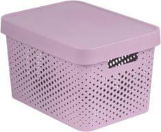 Curver škatla za shranjevanje z luknjicami in pokrovom Infinity, 17 l, roza