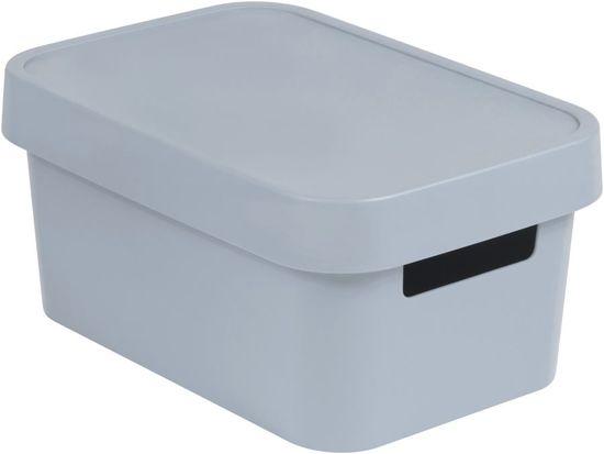 Curver Infinity škatla za shranjevanje s pokrovom, siva, 4,5 l