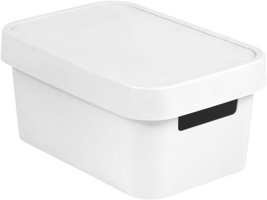 Curver Infinity škatla za shranjevanje s pokrovom, bela, 4,5 l